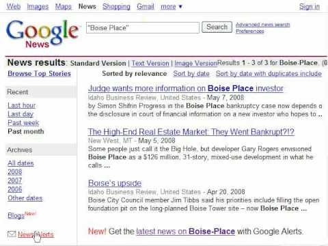 Google News Alerts Tutorial