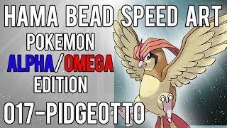 Hama Bead Speed Art   Pokemon   Alpha/Omega   Timelapse   017 - Pidgeotto