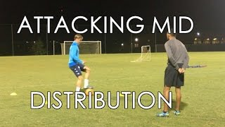 soccer drills attacking center midfield distribution