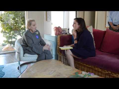 Madeleine Albright Iowa Starting Line Interview