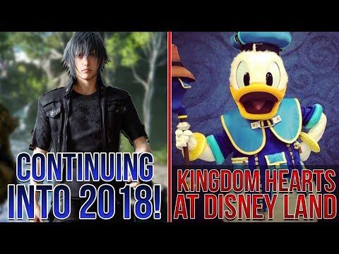 Kingdom Hearts at Disneyworld, Final Fantasy 15 to Continue Into 2018, KH3 Second Form Figure