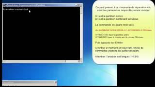 Réparer les fichiers système depuis la console de récupération (Vista Seven)