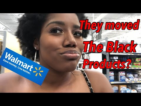 Walmart Vlog | They Moved The Black Hair Products