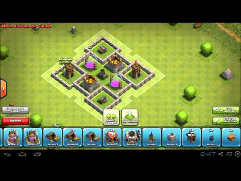 Clash Of Clans - TH 4 / HdV 4 Farming  (Speed Building)