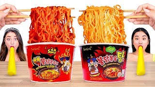 HOTTEST FOOD MUKBANG CHALLENGES! Eating the MOST POPULAR SPICY FOOD With Real Sound by BRAVO! 먹방