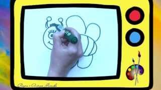 Как нарисовать пчёлку. Оживающие рисунки. Наше всё!(В новом сюжете Алёна рисует ПЧЕЛУ. Обязательно досмотрите до конца, чтобы увидеть, как нарисованная КАРТИНК..., 2014-02-09T13:04:16.000Z)