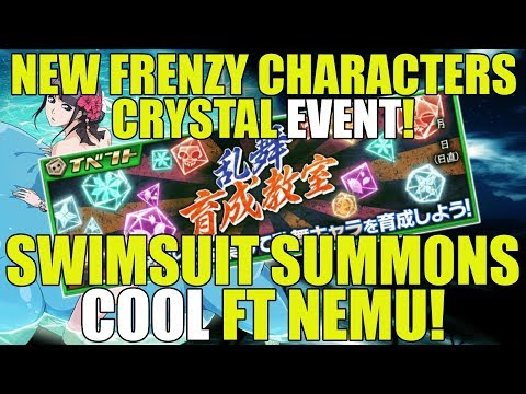 Bleach Brave Souls NEW FRENZY CHARACTERS CRYSTAL EVENTS and SWIMSUIT SUMMONS COOL w/ NEMU