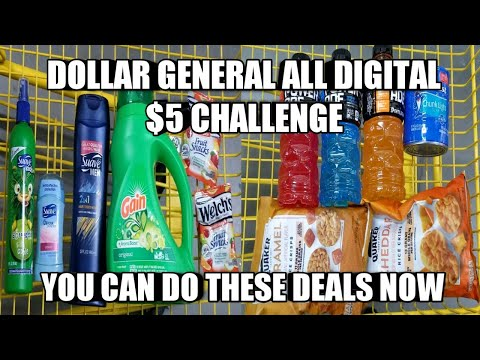 DOLLAR GENERAL ALL DIGITAL $5 CHALLENGE| YOU CAN DO THESE DEALS NOW