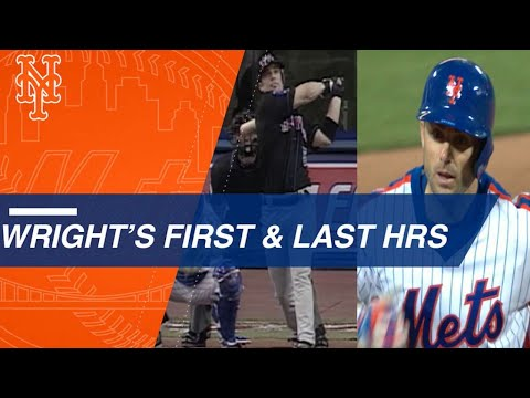 David Wright's first and last Major League home run