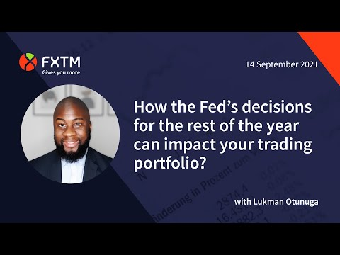 Will the Fed's 2021 policies affect your trading portfolio? | FXTM Market Update | 14/09/2021