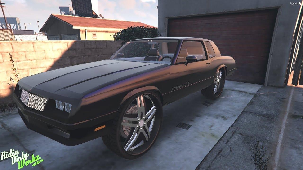 GTAV Online FiveM Car Mods Showcase | Big Block G Body Monte Carlo SS DONK