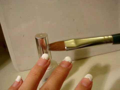 Quick Easy Salon Style French Manicure With Brush