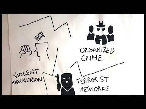 Takedown project: Modelling Violent Radicalisation and Terrorism