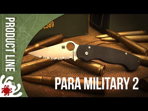 Spyderco C81GPCOFL2 ParaMilitary 2 video_1