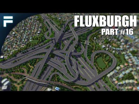 """Cities Skylines - Fluxburgh [PART 16] """"Pedestrian Path & Detailing"""""""
