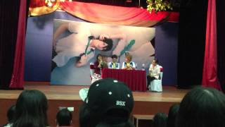 artist day with baozi and hana 18 10 2014 first kiss