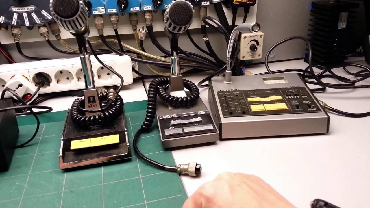Poniendo A Punto Varios Microfonos De Kenwood