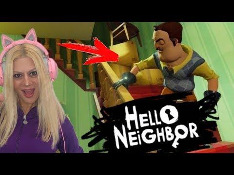 Ο ΓΕΙΤΟΝΑΣ ΤΑ ΠΗΡΕ ΣΤΟ ΚΡΑΝΙΟ Hello Neighbor Let's Play Kristina