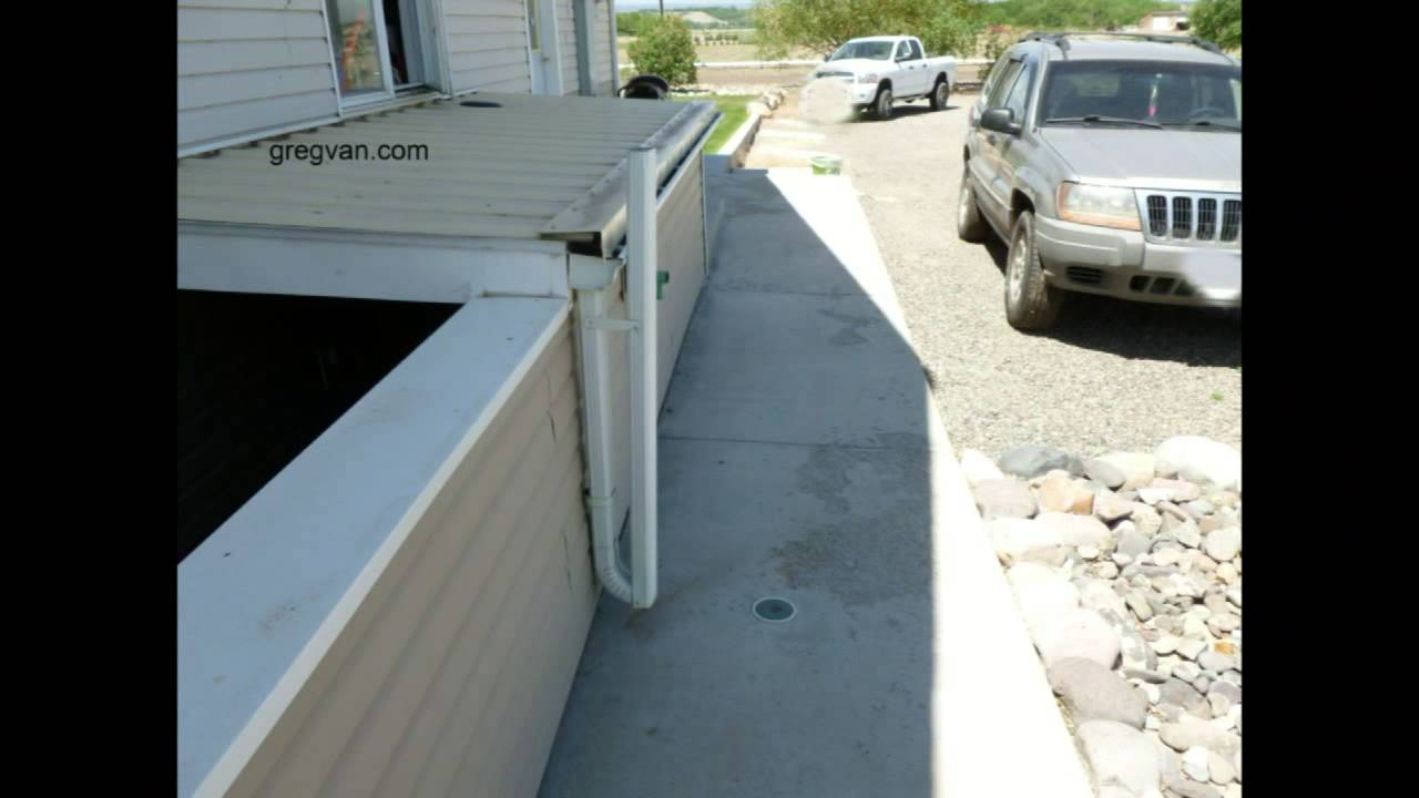 Folding Gutter Downspout When You Forget To Install Site