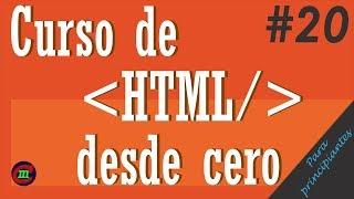 Curso HTML desde cero para principiantes 20 | Atributos de los inputs