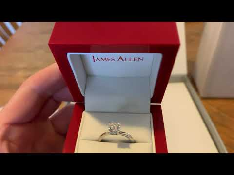 JAMES ALLEN Engagement Ring UNBOXING AND REVIEW (1.1 CARAT)