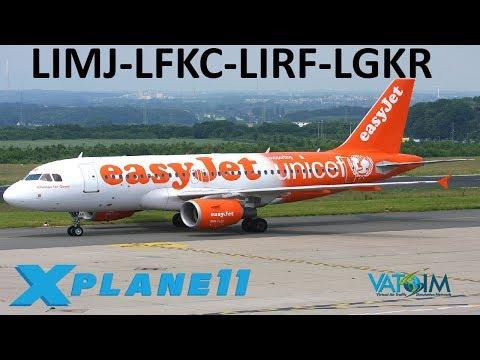 X-Plane 11 | FlyTampa Corfu and New Rome!! | Back to Europe | A319 A320 | VATSIM | X-Enviro 1.09