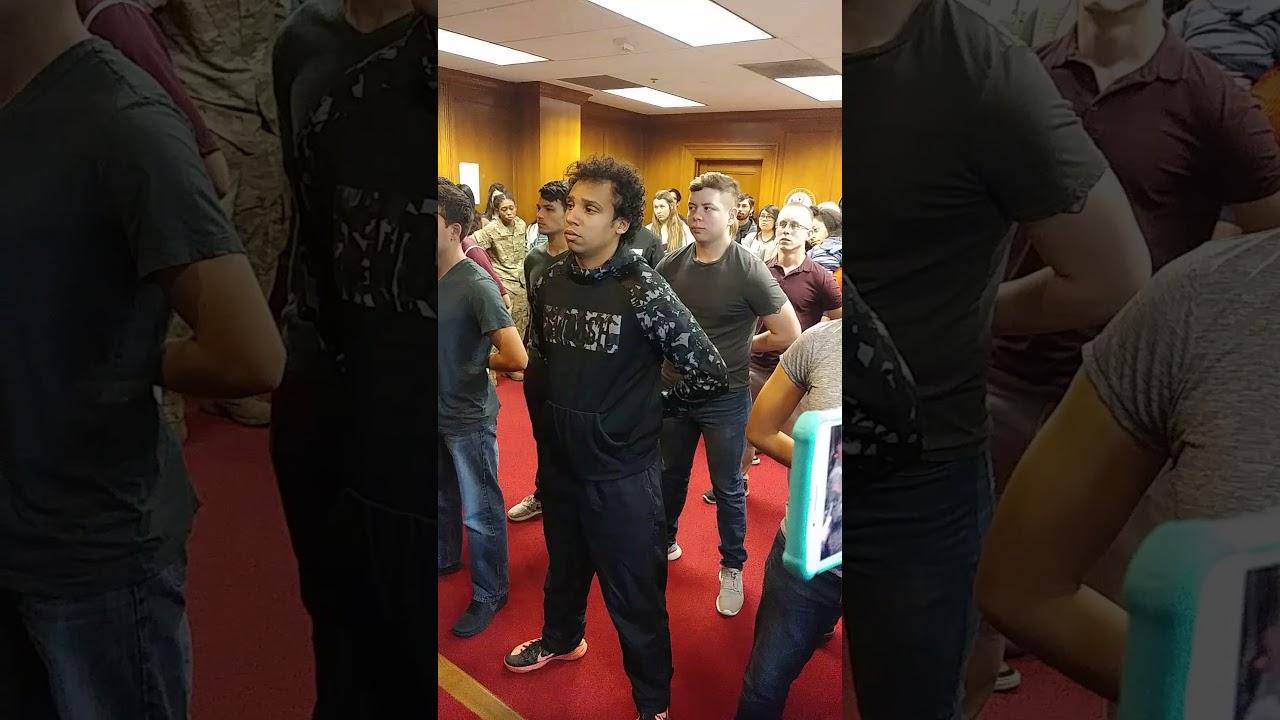 Carlos Swearing at the MEPS Houston, TX