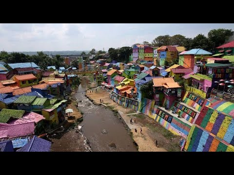 Five colorful villages in Java