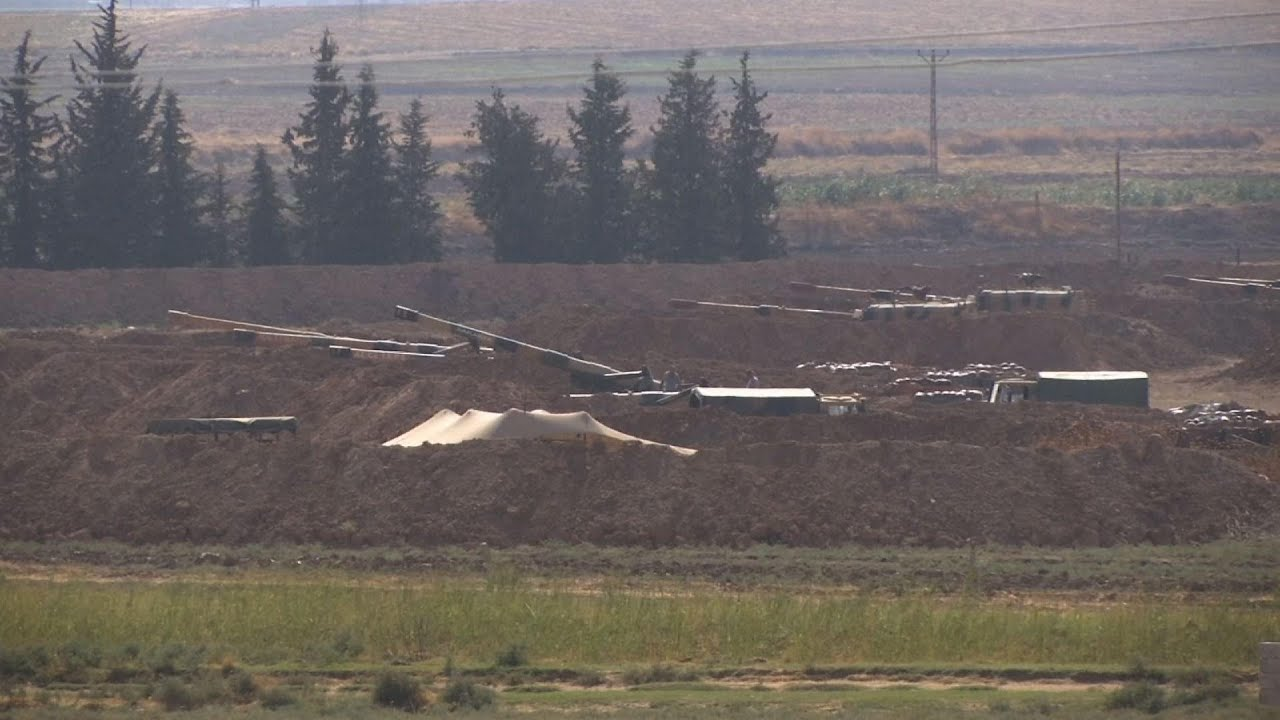 Military build up at Turkey Syria border