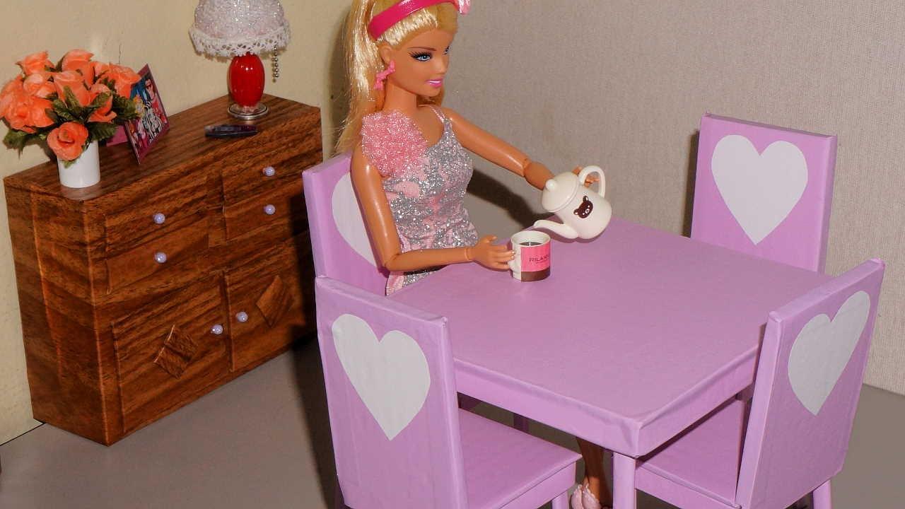 Como Fazer Mesa Para Boneca Monster High Barbie Eah Etc