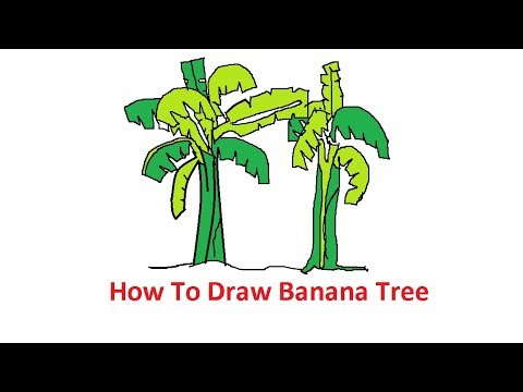 How To Draw Banana Tree Step By Step Using MS Paint Easily