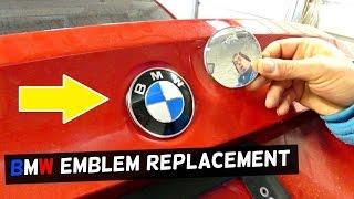 Bmw E90 E46 E39 E60 E83 E65 Trunk Lid Hood Emblem Replacement Removal Youtube