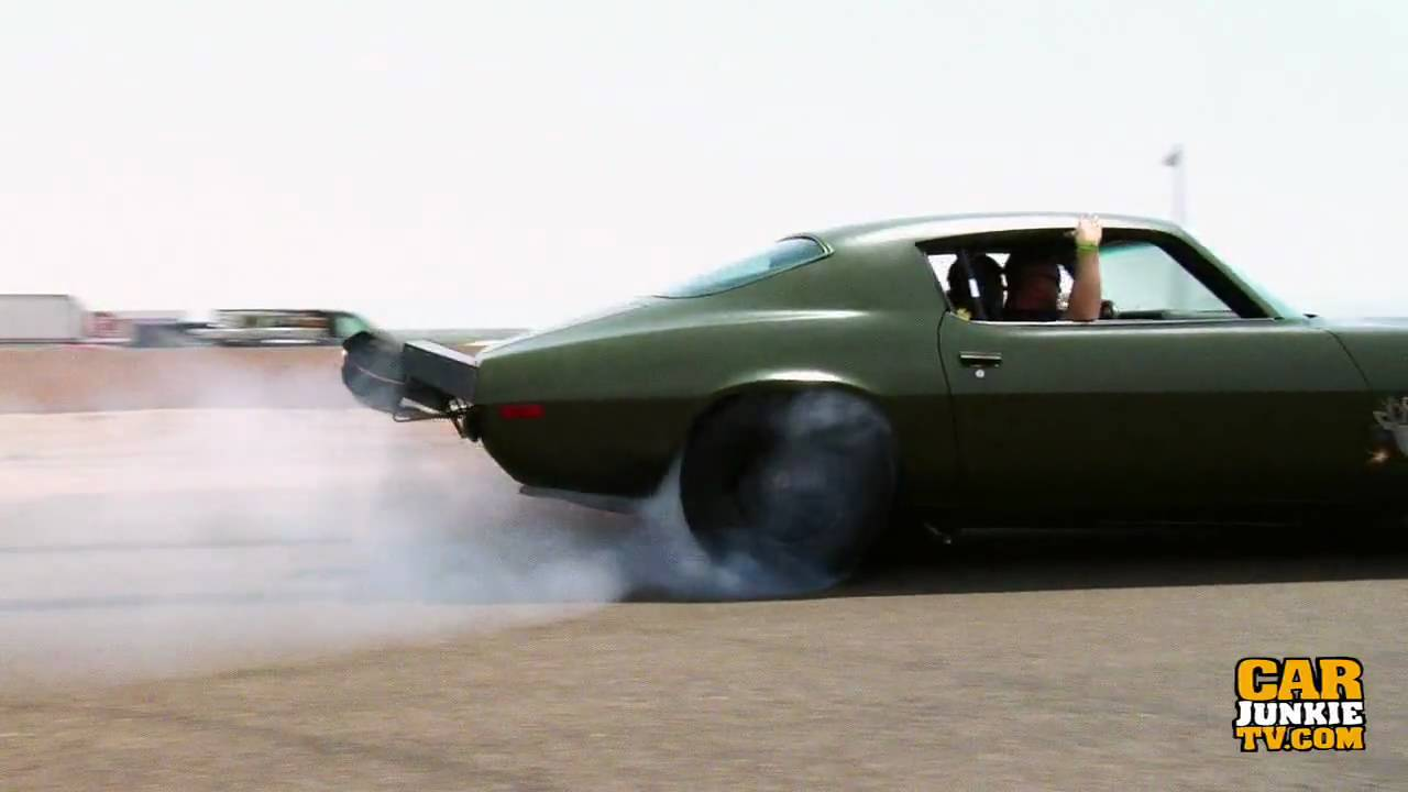 F Bomb Camaro >> 1973 Chevy Camaro (The F-BOMB) 1000 Ft Burnout - YouTube