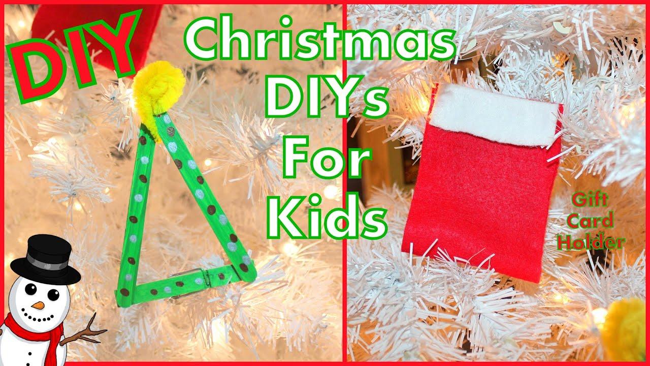 Diy Kids Christmas Crafts Diy Gift Card Holder Tree Ornament