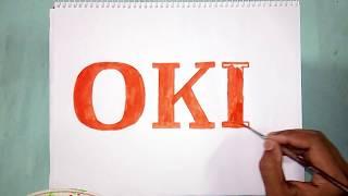 How to draw the OKI logo ~ logo drawing
