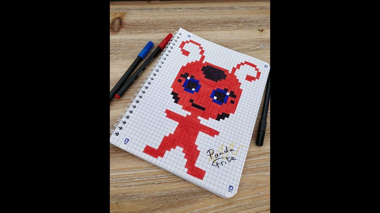 Pixel Art Tikki Miraculous Ladybug