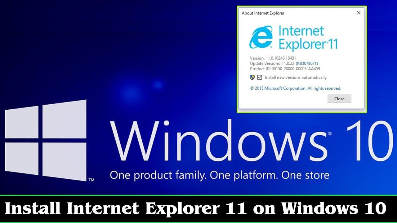 [GUIDE] Download Internet Explorer 11 Windows 10 (Install ...