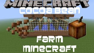 Semi-Auto Cocoa Bean Farm Minecraft Tutorial (Works in 1.8)
