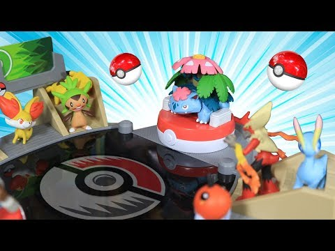 Download Youtube: Playing with a Pokemon Battle Stadium Arena - Toy Review