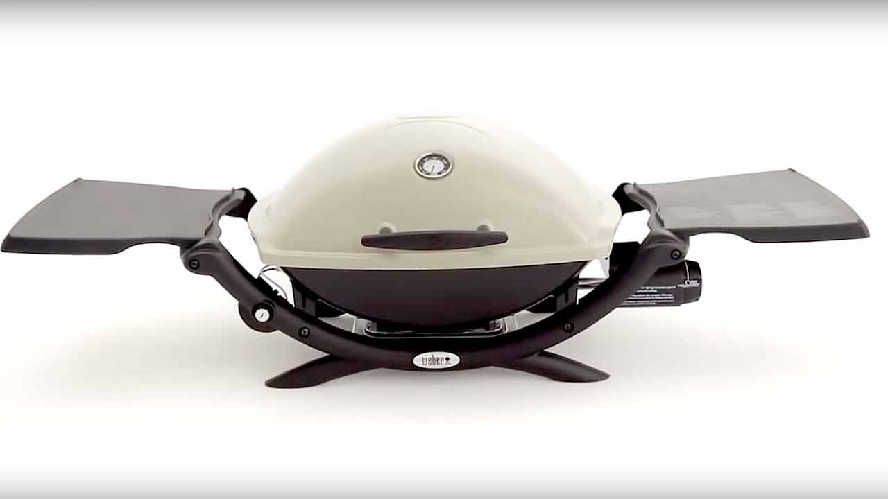 weber q 2200 portable gas grill youtube. Black Bedroom Furniture Sets. Home Design Ideas