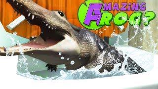 FLUSHING THE NEW CROCODILE DOWN THE MAGIC TOILET - Amazing Frog Part 171 | Pungence