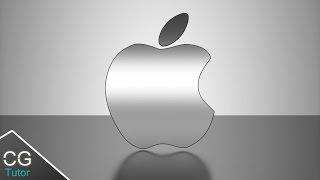 Blender logo tutorial - How to make a 3d apple logo in blender