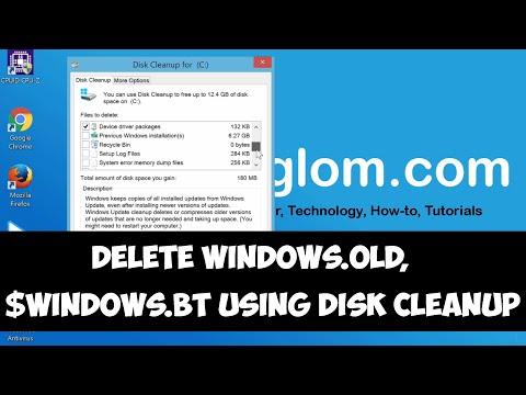 Delete windows 10 bt folder