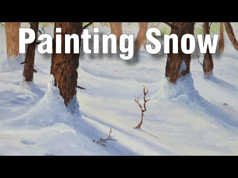 how to paint snow in oil 1