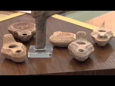 Antique Oil Lamps & Ushabti - Earthen Middle-eastern Statuary & Pottery