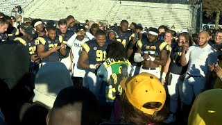 ETSU football player proposes to girlfriend after Samford game