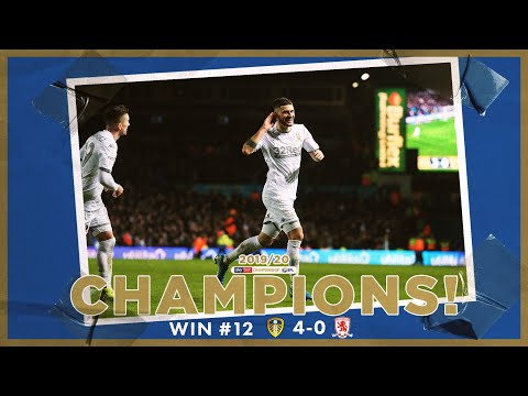 Champions! | Extended highlights | Win #12 Leeds United 4-0 Middlesbrough