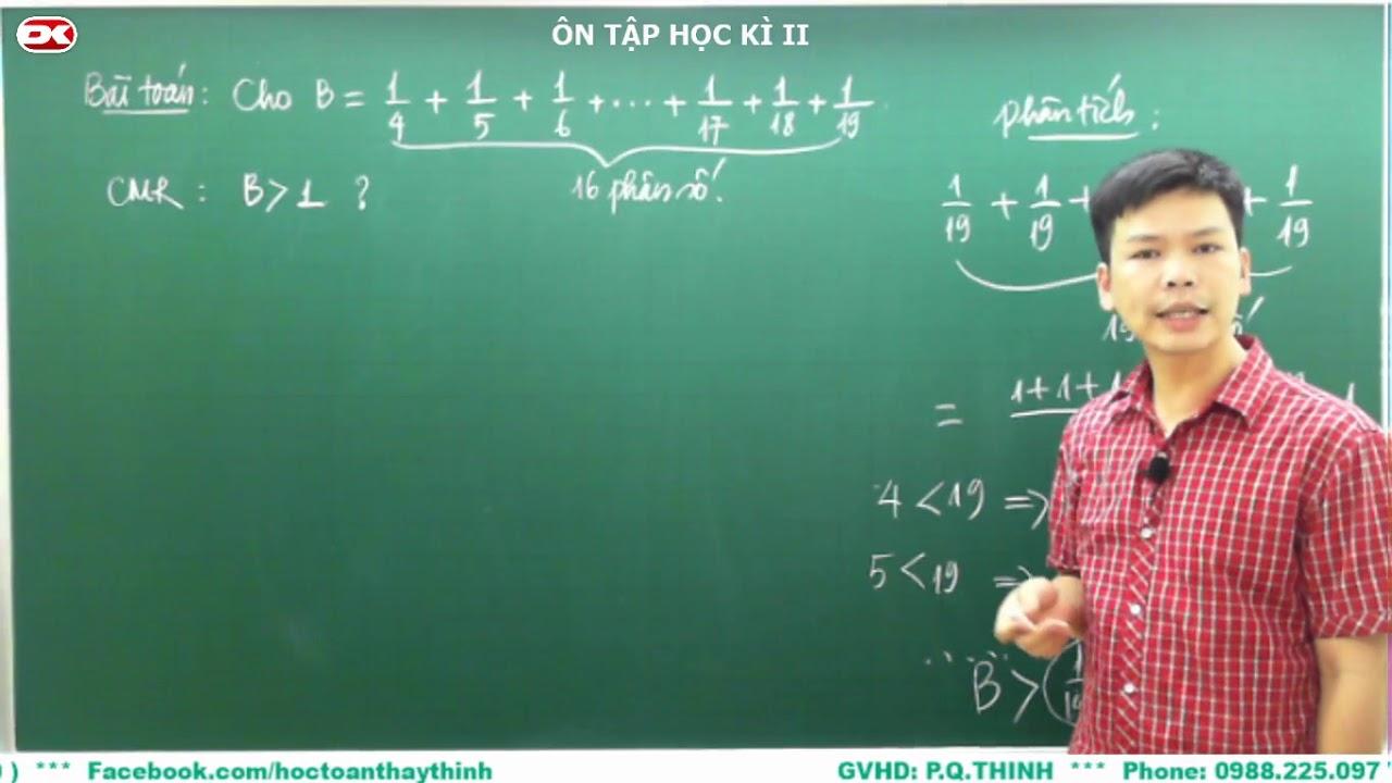 Toán 6 – Dùng tính chất của phân số để chứng minh một bài toán.