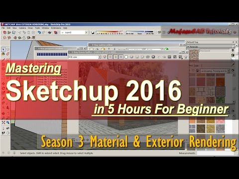 Sketchup 2016 Exterior Rendering Vray Tutorial For Beginner Course Season 3