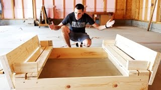 HOW TO BUILD A SANDBOX WITH BENCH SEATS #DIY